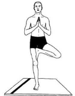 Эка-пада-пранамасана (поза молящегося на одной ноге)