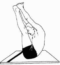 Нираламба-пашчимоттанасана (поза растягивания спины без поддержки)