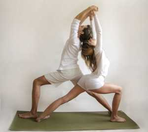 Основные асаны парной йоги Парная поза воина