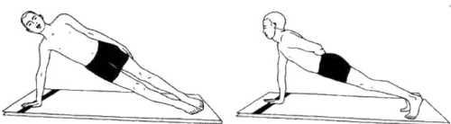 Сантоланасана (поза на балансирование)