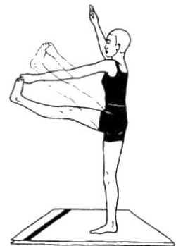 Уттхита-хаста-падангуштхасана (поза вытянутой руки и большого пальца ноги)