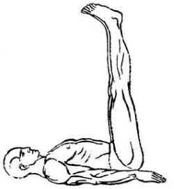 Випарита-карани-мудра (мудра в перевернутой позе) 2